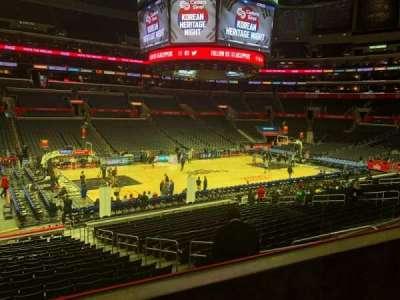 Staples Center, secção: PR16, fila: 2, lugar: 5