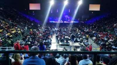 EagleBank Arena, secção: 109, fila: G, lugar: 1
