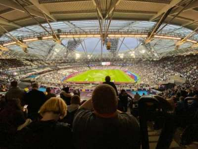 London Stadium, secção: 223, fila: 61, lugar: 840