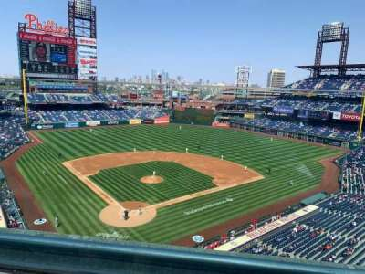 Citizens Bank Park, secção: 319, fila: 1, lugar: 16