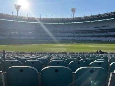 Melbourne Cricket Ground, secção: M16, fila: X, lugar: 4