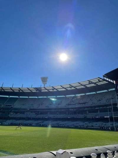 Melbourne Cricket Ground, secção: M11, fila: A, lugar: 5