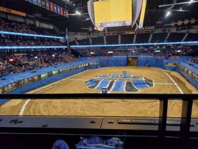 Bridgestone Arena, secção: 202, fila: A, lugar: 9