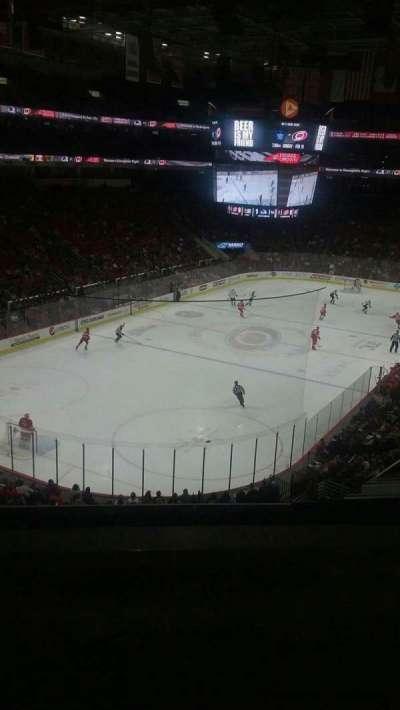PNC Arena, secção: 210, fila: B, lugar: 1