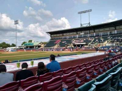 Whitaker Bank Ballpark, secção: 110, fila: 5, lugar: 15
