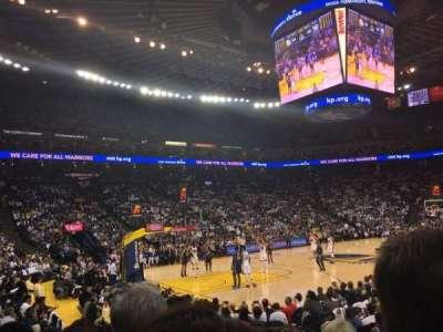 Oracle Arena, secção: 119, fila: 7, lugar: 5