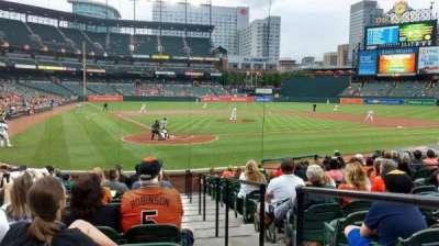 Oriole Park at Camden Yards, secção: 34, fila: 16, lugar: 1