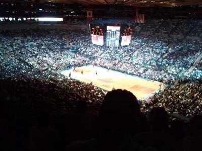 Madison Square Garden, secção: 419, fila: D, lugar: 7