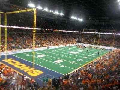 Spokane Arena, secção: 113, fila: P, lugar: 6