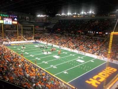 Spokane Arena, secção: 220, fila: L, lugar: 23