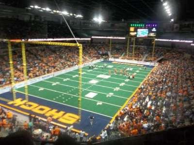 Spokane Arena, secção: 224, fila: M, lugar: 4