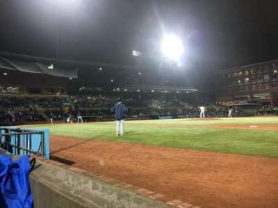 Durham Bulls Athletic Park, secção: 114, fila: A, lugar: 7 and 8