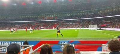 Wembley Stadium, secção: 119, fila: 3, lugar: 212