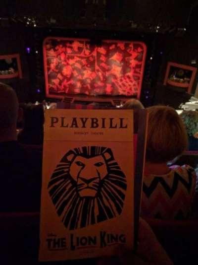Minskoff Theatre, secção: MEZZ, fila: L, lugar: 129