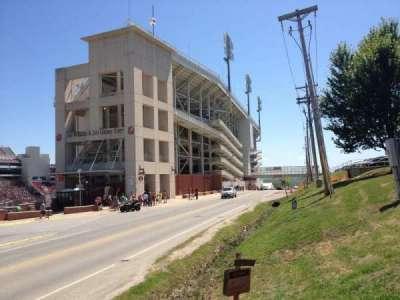 Razorback Stadium secção West Side