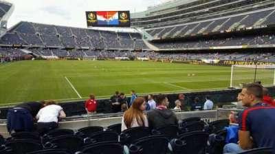 Soldier Field, secção: 125, fila: 6