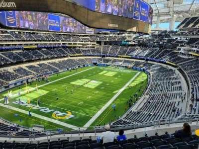 SoFi Stadium, secção: 313, fila: 18, lugar: 10