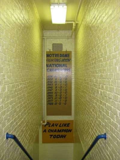 Notre Dame Stadium secção Locker Room