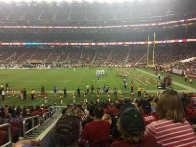 Levi's Stadium, secção: 134, fila: 20, lugar: 16