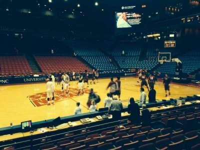 University Of Dayton Arena, secção: 105, fila: H, lugar: 9