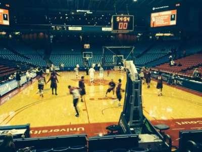 University Of Dayton Arena, secção: 101, fila: H, lugar: 4