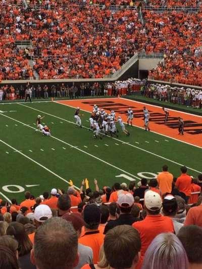 Boone Pickens Stadium, secção: 224, fila: 21, lugar: 42