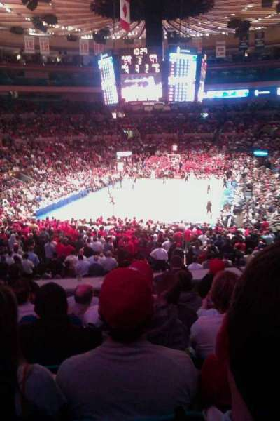 Madison Square Garden, secção: 131, fila: F, lugar: 11