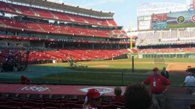 Great American Ball Park, secção: 130, fila: M, lugar: 1