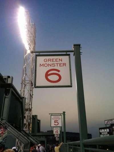Fenway Park secção Green Monster 6
