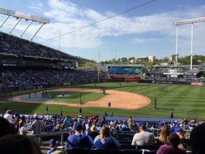 Kauffman Stadium, secção: 237, fila: KK, lugar: 8