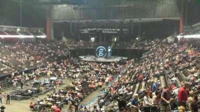 Jacksonville Veterans Memorial Arena, secção: 107, fila: AA, lugar: 11