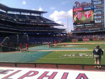 Citizens Bank Park secção 117