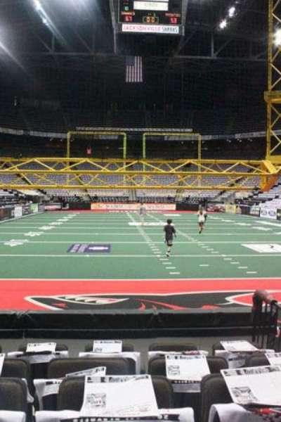 Jacksonville Veterans Memorial Arena, secção: 120, fila: D, lugar: 3