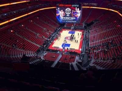 Little Caesars Arena, secção: 218, fila: 10, lugar: 14