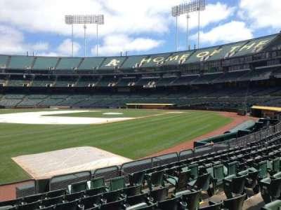 Oakland Coliseum, secção: 127, fila: 8