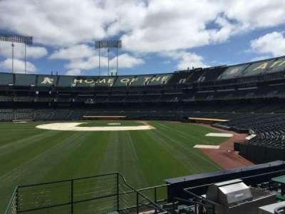 Oakland Coliseum, secção: 133, fila: 22