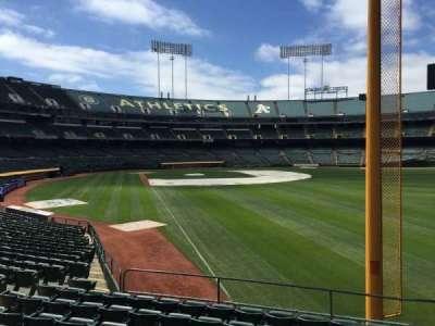 Oakland Coliseum, secção: 103, fila: 20