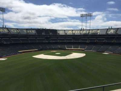 Oakland Coliseum, secção: 245, fila: 2