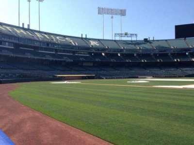 Oakland Coliseum secção 1B FB