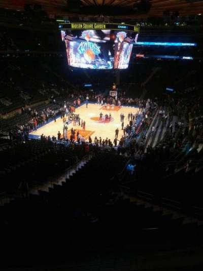Madison Square Garden, secção: 207, fila: 3