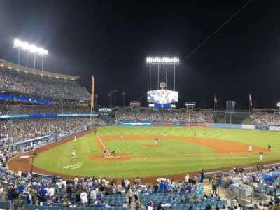 Dodger Stadium, secção: 116LG, fila: D, lugar: 5