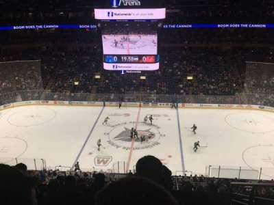 Nationwide Arena, secção: 203, fila: J