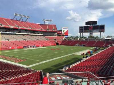Raymond James Stadium secção 202