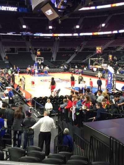 The Palace of Auburn Hills, secção: 109, fila: D, lugar: 3