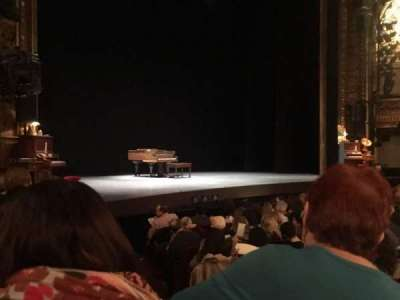 Palace Theatre (Broadway), secção: Orchestra, fila: L, lugar: 2