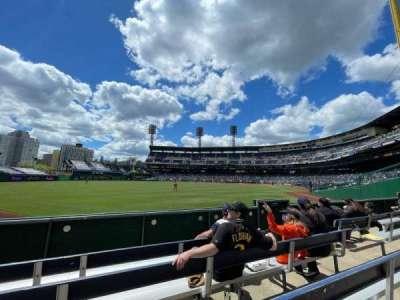 PNC Park, secção: 134, fila: D, lugar: 8