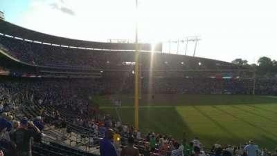 Kauffman Stadium, secção: 249, fila: LL, lugar: 11