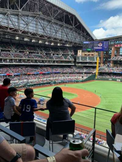 Globe Life Field, secção: Texas Terrace, fila: 2, lugar: 4