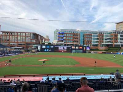 Durham Bulls Athletic Park secção 208