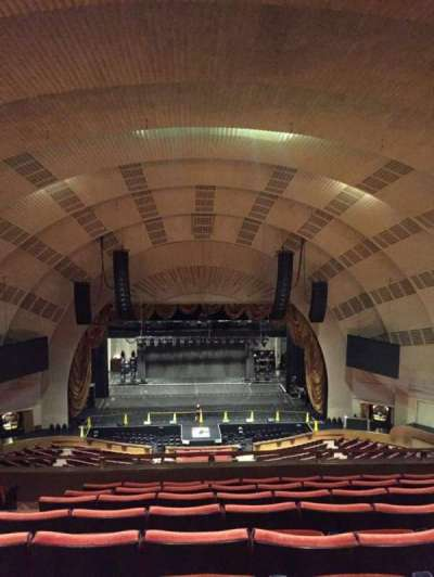 Radio City Music Hall secção 3rd Mezzanine 4